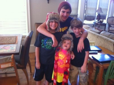 Sarah Grace, Josh, Blake and MattyB Hanging Out